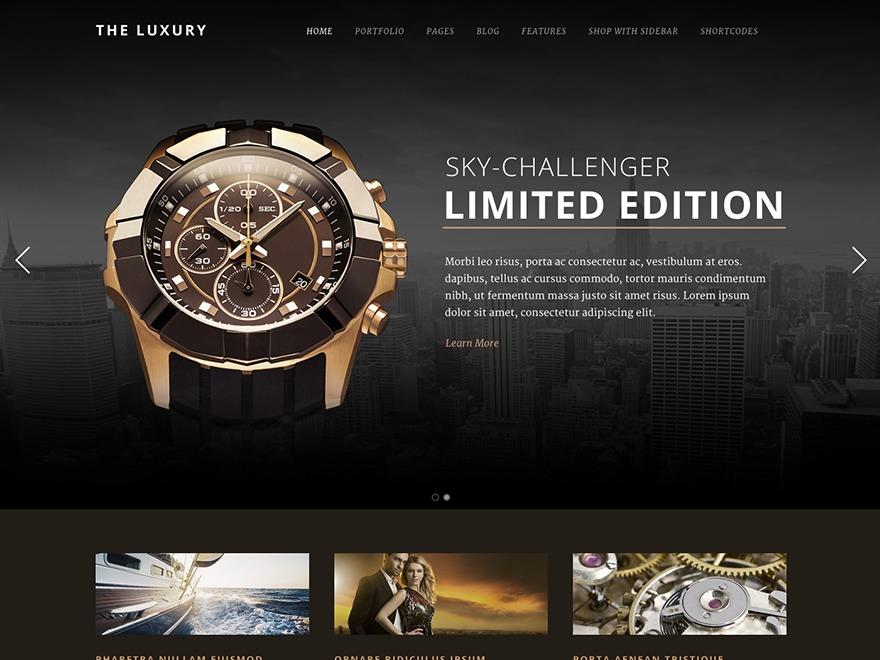 The Luxury WordPress website template