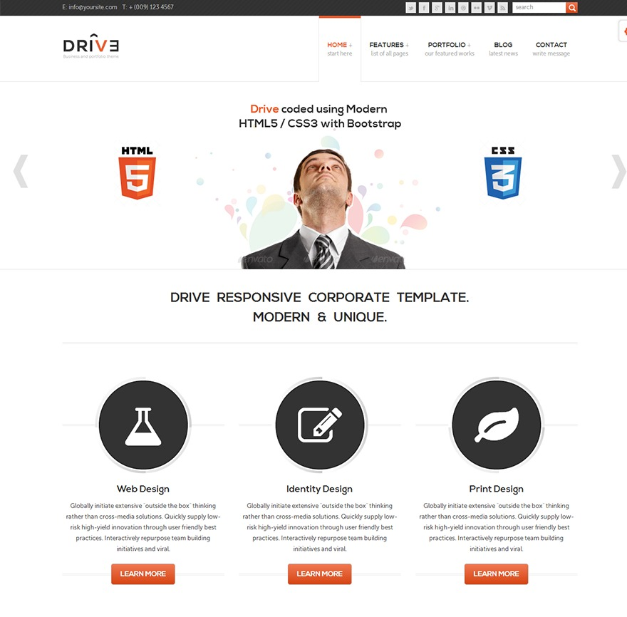 Theme WordPress Drive (Responsive Wordpress Theme)