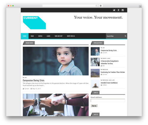 Theme WordPress Lineza - wearecurrent.co.uk