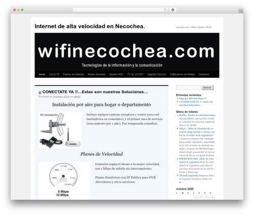 Theme WordPress Twenty Ten - wifinecochea.com.ar