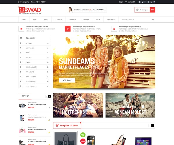 Theme WordPress WD OSWAD MARKET CHILD
