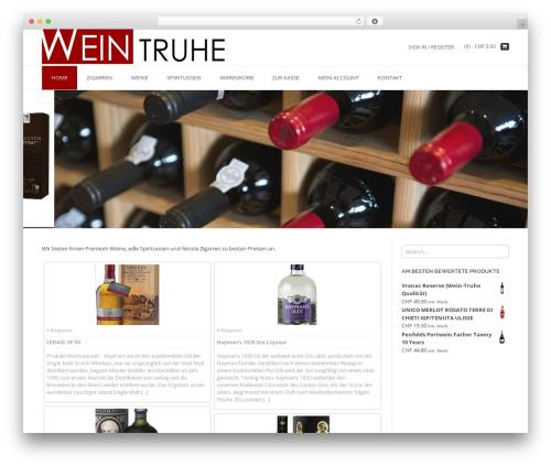 TopShop Premium WordPress shop theme - wein-truhe.ch