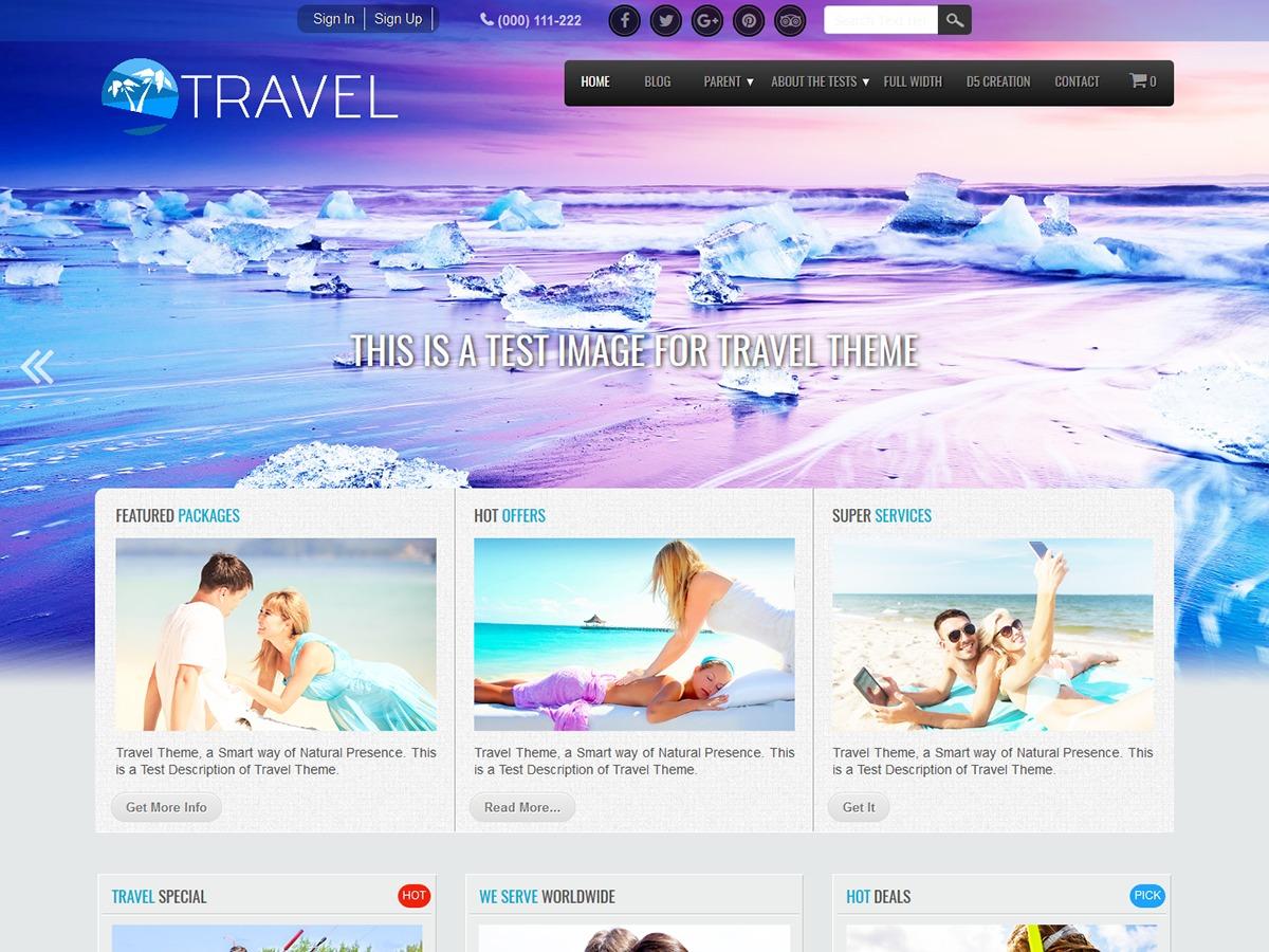 Travel Extend WordPress travel theme