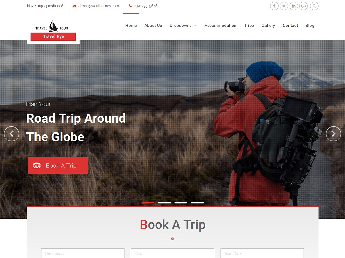 Travel Eye theme WordPress free