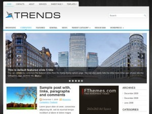 Trends WordPress blog theme