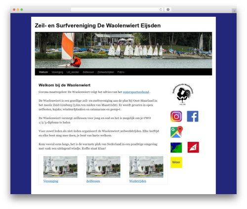 Twenty Ten best free WordPress theme - waolenwiert.nl