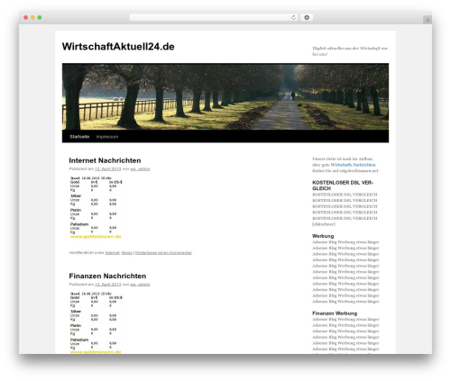 Twenty Ten free WordPress theme - wirtschaftaktuell24.de