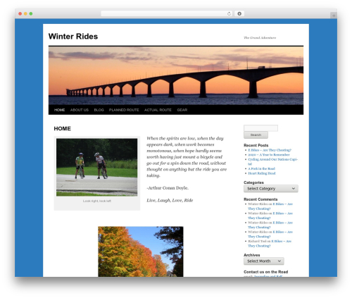 Twenty Ten free WordPress theme - winter-rides.com