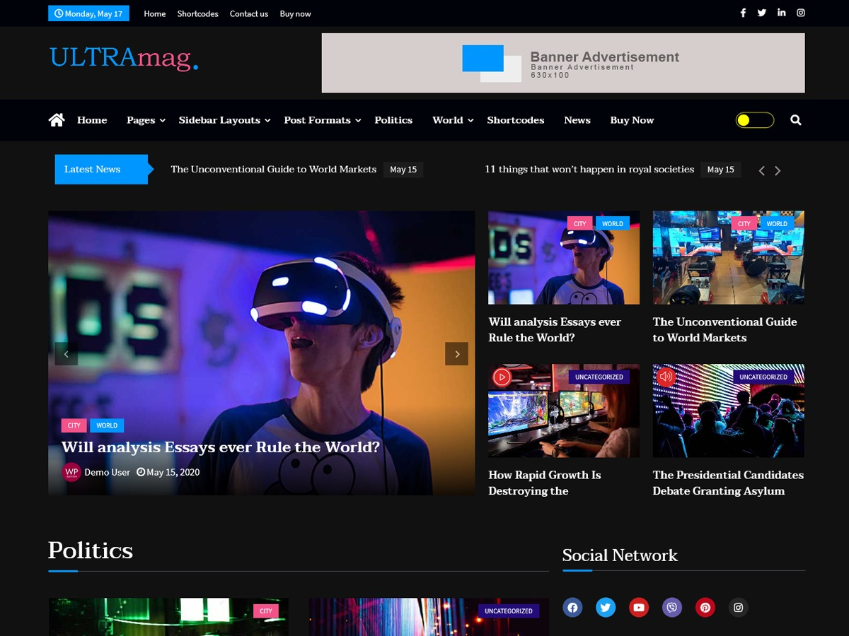 Ultra Mag WordPress news theme
