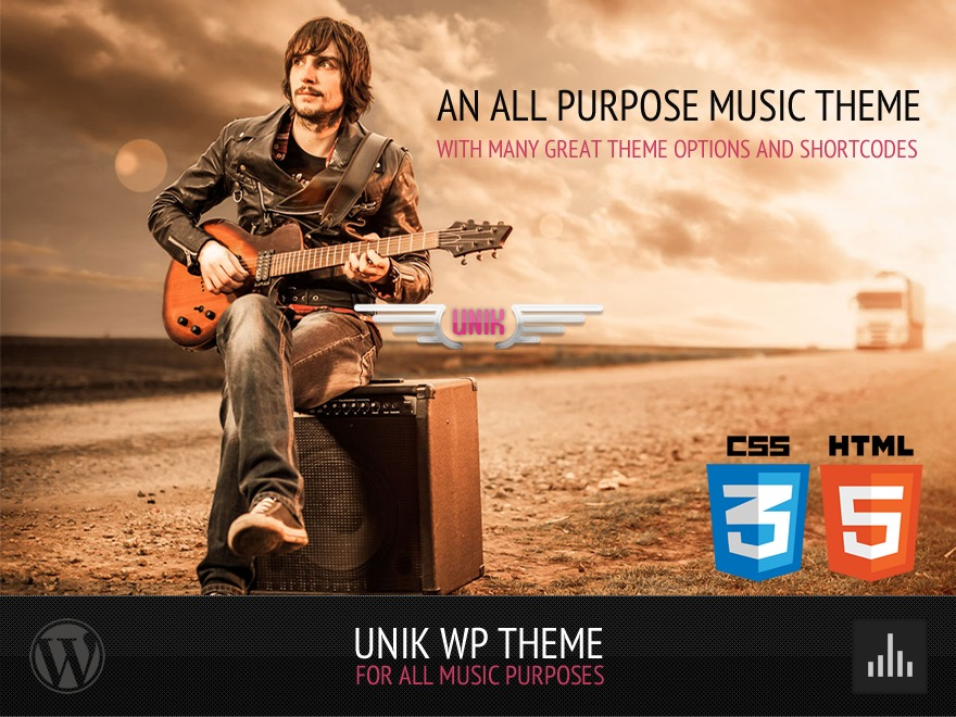 UNIK - Universal Music Responsive Wordpress Theme WordPress template