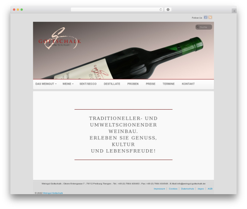 Voyage WordPress theme design - weingut-gottschalk.de