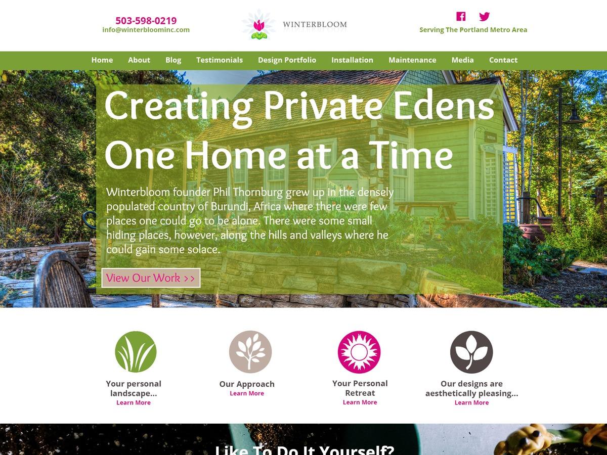 Winterbloom Inc. WordPress template