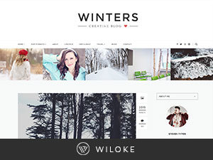 winters best WordPress template