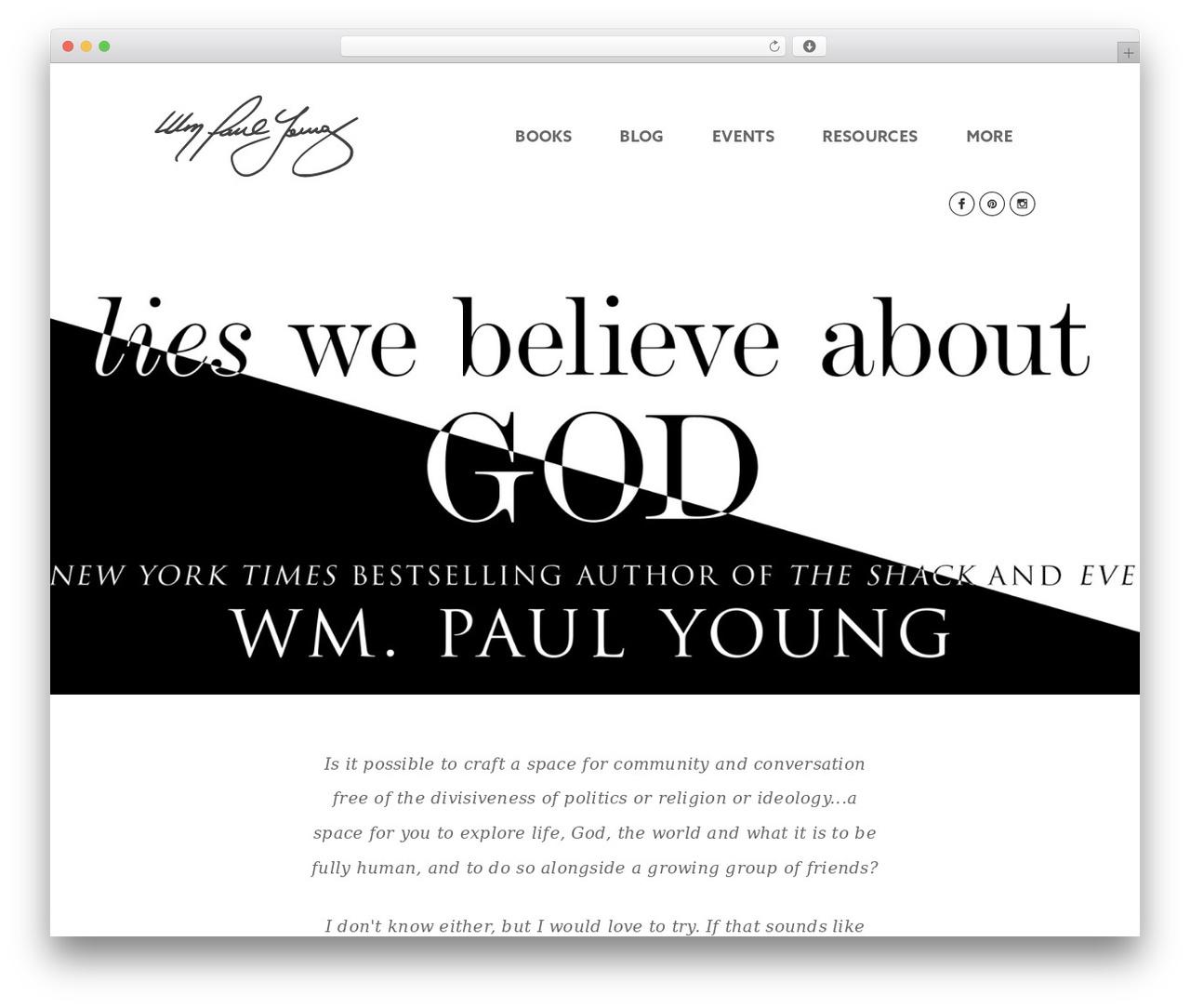 WM Paul Young Custom theme WordPress - wmpaulyoung.com