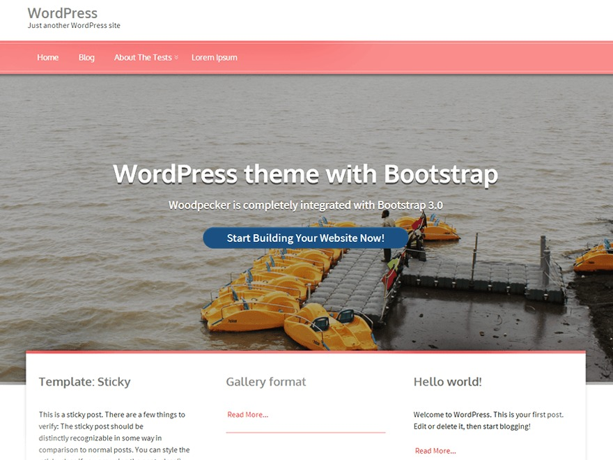 Woodpecker best free WordPress theme