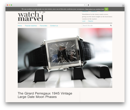 WordPress template Verticalcontent Base Theme - watchmarvel.com