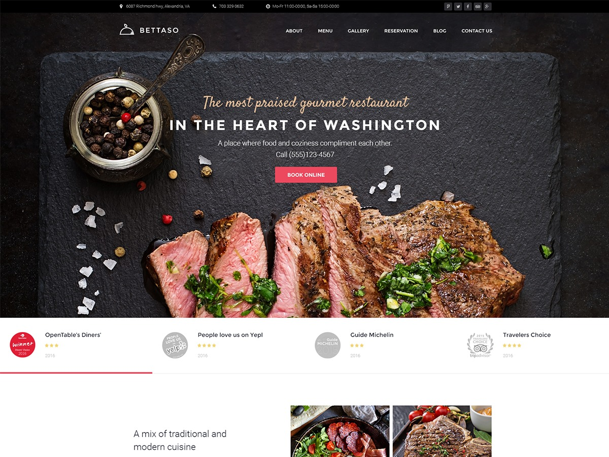 WordPress theme Bettaso