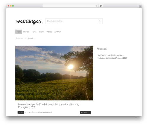 WordPress theme Hamburg - weinlinger.at