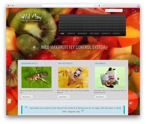 WordPress theme Travel Extend - wildmay.net.au