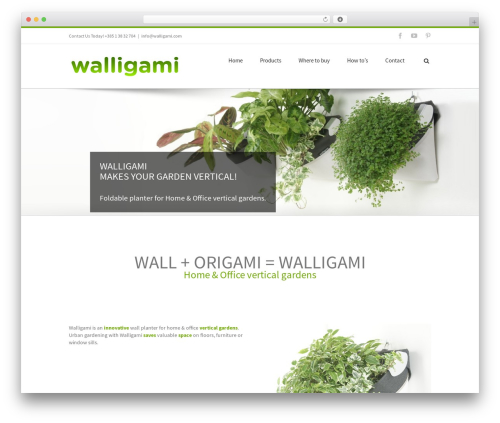 WordPress website template Avada - walligami.com