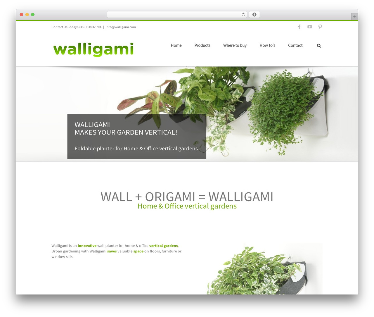 WordPress website template Avada - walligami.com