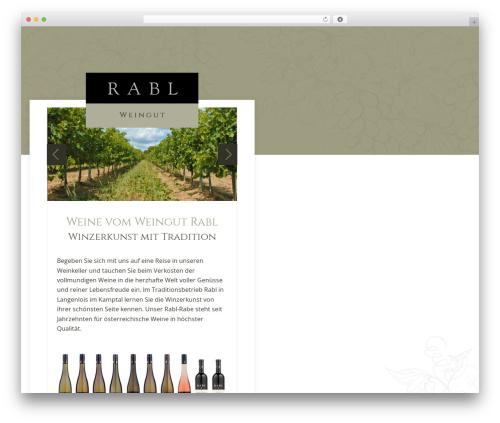 WordPress website template StrapPress - weingut-rabl.at
