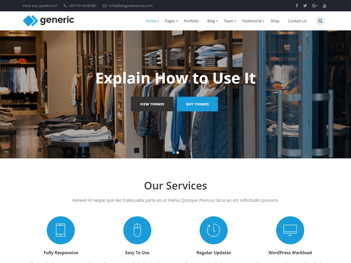 WP Generic free WordPress theme