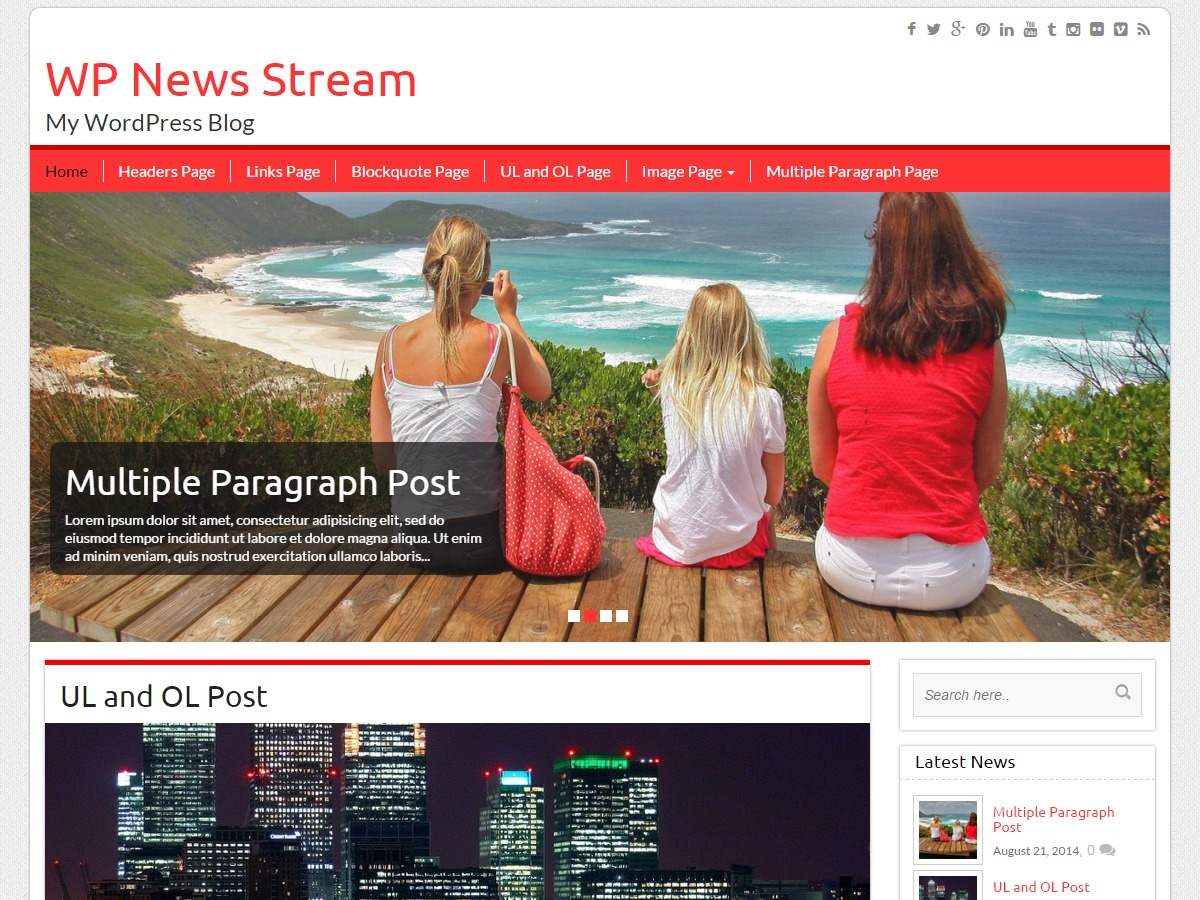 WP News Stream best WordPress magazine theme