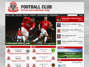 WP template Football Club for SportsPress