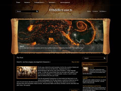 WP template MiddleEarth