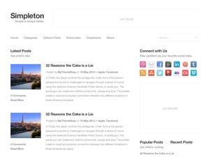 WP theme Simpleton