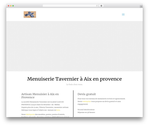 Best WordPress theme Betheme - menuiserie-tavernier.fr