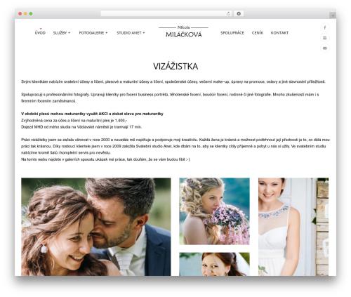 Best WordPress theme Tripod - milackova.cz