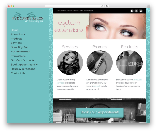 Best WordPress theme X - myeyecandysalon.com