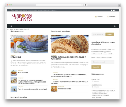 Cookbook WordPress theme design - myeuropeancakes.com