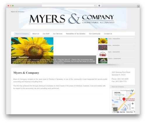 Custom Community Pro WordPress page template - myersandcompanycpa.com