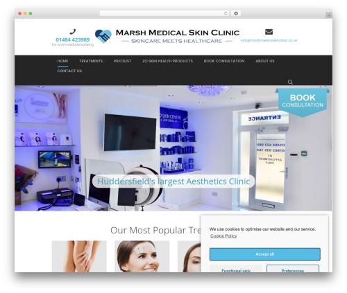 Dentario medical WordPress theme - marshmedicalskinclinic.co.uk