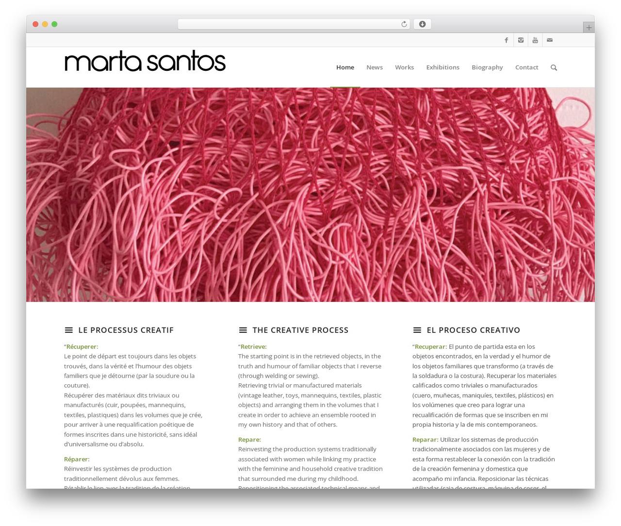 Enfold WordPress theme design - marta-santos.com