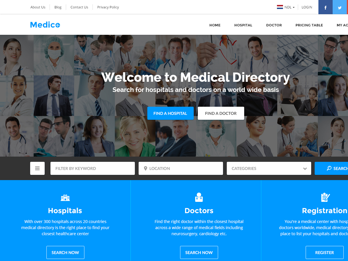 Medical Directory medical WordPress theme