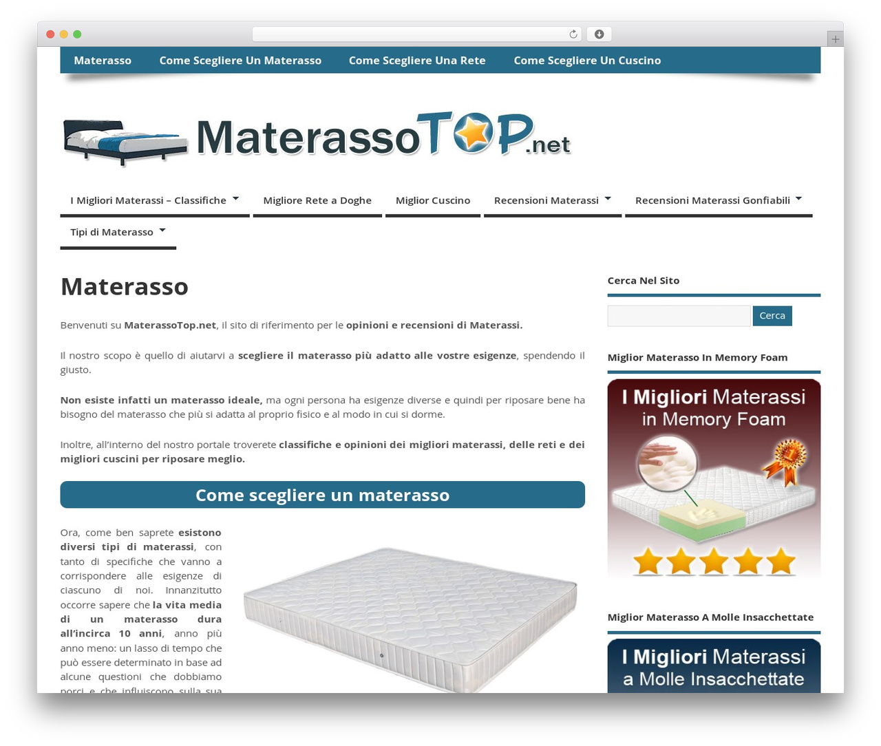 Materassi Memory Foam Opinioni.Mesocolumn Wordpress Theme By Richie Ks Materassotop Net