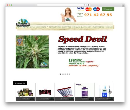 MundoCannabis WordPress shop theme - mundocannabis.es