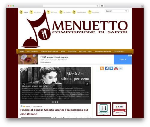 MyRecipe best WordPress theme - menuetto.it
