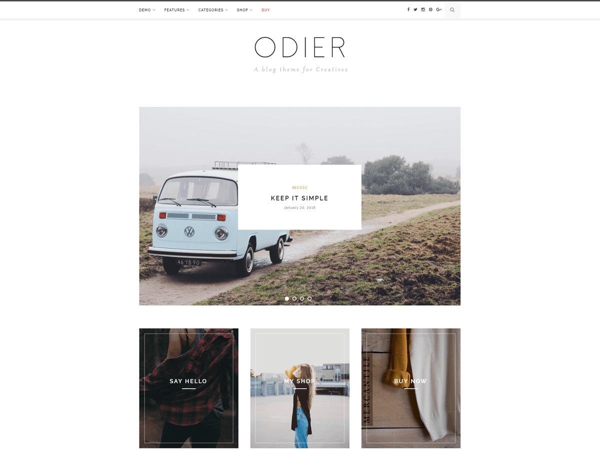 Odier WordPress ecommerce template