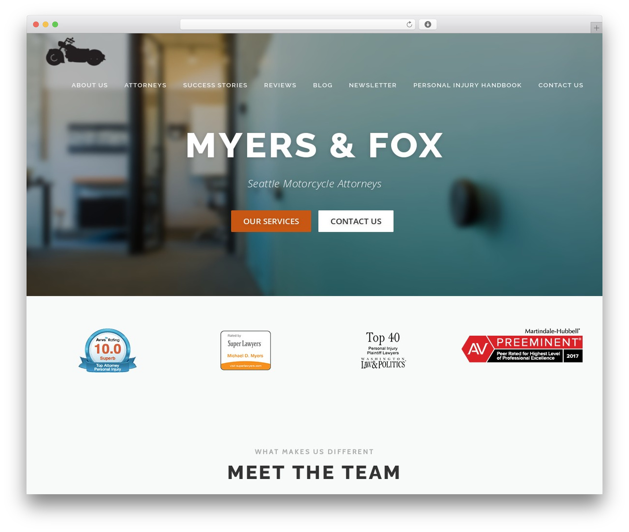 OnePress free WordPress theme by FameThemes - myers-fox com