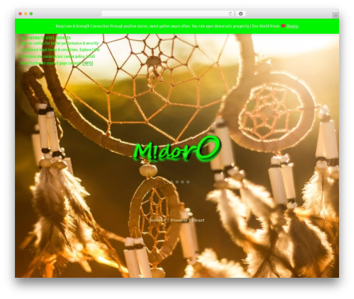 Parallax template WordPress free - midoro.me