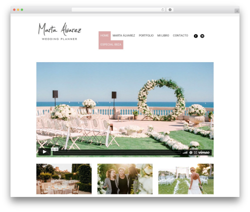 Planer WordPress wedding theme - martaalvarez.com