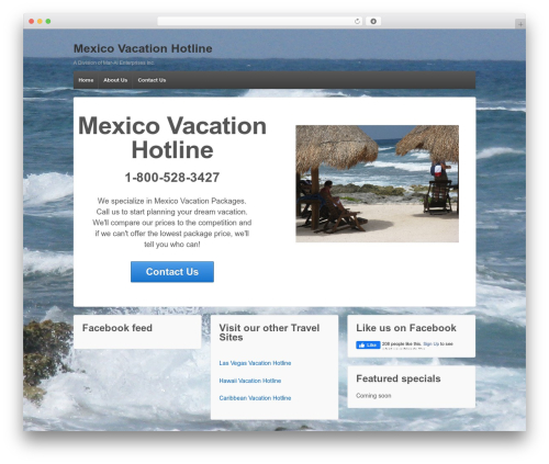 Responsive free website theme - mexicovacationhotline.com