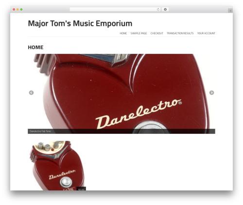 Storefront Paper WordPress shop theme - majortomsmusic.com