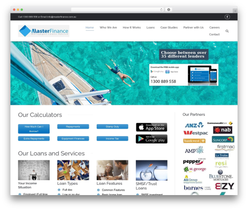 The7 WordPress theme - masterfinance.com.au