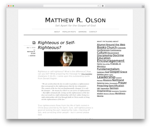 Theme WordPress Elemin - matthewrolson.com
